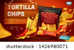 tortilla chips ads with cheese... | Shutterstock .eps vector #1426980071