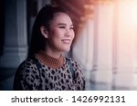 holidays  tourists young women...   Shutterstock . vector #1426992131