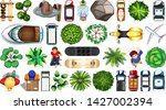 set of aerial objects...   Shutterstock .eps vector #1427002394