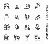 party icons and celebration... | Shutterstock .eps vector #142701961