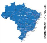 brazil map | Shutterstock .eps vector #142702231