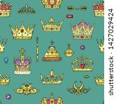 crown vector golden royal... | Shutterstock .eps vector #1427029424