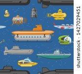 submarine vector sea pigboat or ... | Shutterstock .eps vector #1427029451