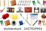 set of stationary object...   Shutterstock .eps vector #1427029901