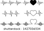 heartbeat icon on white... | Shutterstock .eps vector #1427036534