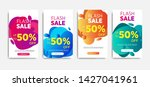 sale banner template with... | Shutterstock .eps vector #1427041961