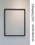 hanging empty black wooden... | Shutterstock . vector #1427049461