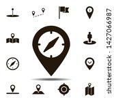 location  compass icon. simple...