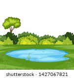 a simple nature scene... | Shutterstock .eps vector #1427067821