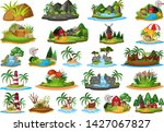 set of nature island scene...   Shutterstock .eps vector #1427067827