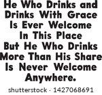 he who drinks   retro ad art...   Shutterstock .eps vector #1427068691