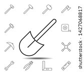 shovel icon. simple thin line ...