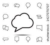 bubble  chat  cloud icon....