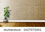 golden white brick walls with...   Shutterstock . vector #1427073341