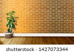 golden yellow brick walls with...   Shutterstock . vector #1427073344