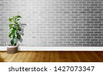 white gray brick walls with...   Shutterstock . vector #1427073347