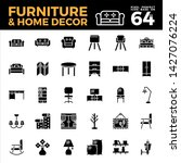 furniture and home decor solid... | Shutterstock .eps vector #1427076224