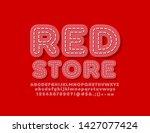 vector modern label red store.... | Shutterstock .eps vector #1427077424
