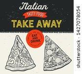 pizza illustration for...   Shutterstock .eps vector #1427078054