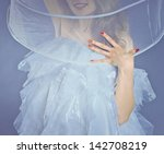 young beautiful girl in a white ... | Shutterstock . vector #142708219