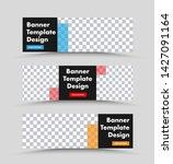 black horizontal web banner... | Shutterstock .eps vector #1427091164