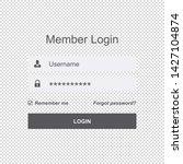 user interface member login  ...