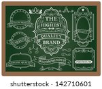 collection of labels with retro ... | Shutterstock .eps vector #142710601