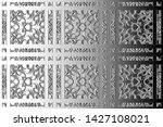 black and white relief convex... | Shutterstock . vector #1427108021