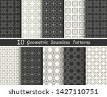 set of seamless geometric... | Shutterstock .eps vector #1427110751