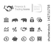 Finance & trading related icons