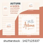 hello autumn flyer dl a4 cover... | Shutterstock .eps vector #1427125337