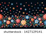 seamless border with summer... | Shutterstock .eps vector #1427129141