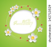 Floral Invitation Design With...