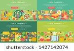 set of trendy flat design...   Shutterstock . vector #1427142074