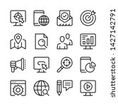 seo line icons set. modern... | Shutterstock .eps vector #1427142791