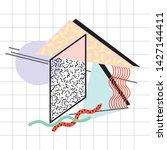 abstract geometric shape ...   Shutterstock .eps vector #1427144411