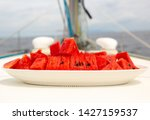 Watermelon On The Sailing Yach...