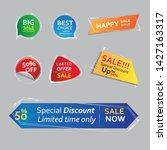 glass banner promotional badges ... | Shutterstock .eps vector #1427163317