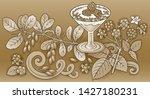 sweets  berries  fruits hand...   Shutterstock .eps vector #1427180231