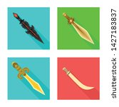 isolated object of and sword...   Shutterstock .eps vector #1427183837