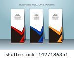 roll up banner abstract... | Shutterstock .eps vector #1427186351