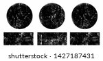 set of black grunge round and... | Shutterstock .eps vector #1427187431