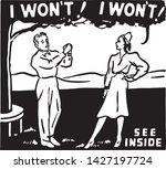 i won't  i won't    retro ad... | Shutterstock .eps vector #1427197724