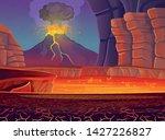 volcano eruption. vector... | Shutterstock .eps vector #1427226827