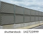 Noise Barrier Wall On A Highwa...
