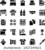 printer and plotter solid icons