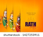 happy rath yatra holiday... | Shutterstock .eps vector #1427253911