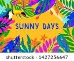 summer vector illustration with ... | Shutterstock .eps vector #1427256647