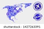 air plane vector north america...   Shutterstock .eps vector #1427263391