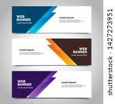 abstract vector banners.modern... | Shutterstock .eps vector #1427273951